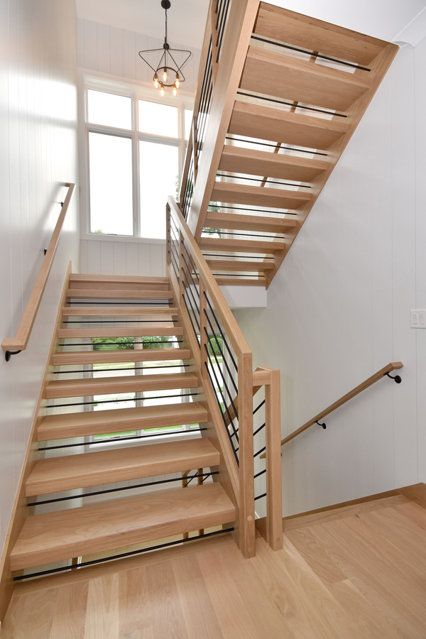 light staircase in home
