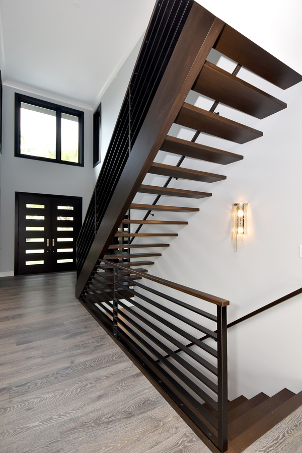dark staircase in house