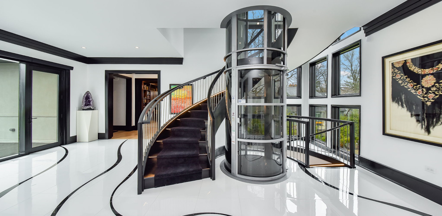 staircase in foyer